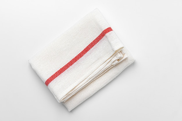 Kitchen cloth isolated on white background, close up