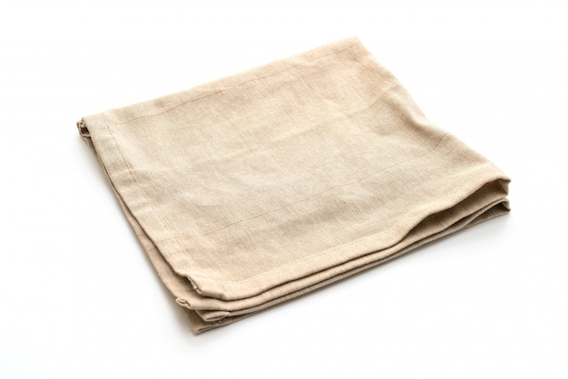 Kitchen cloth (napkin) isolated on white