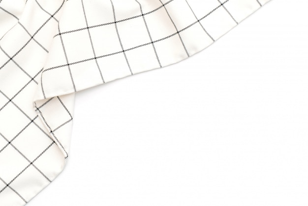 Kitchen cloth (napkin) on white background
