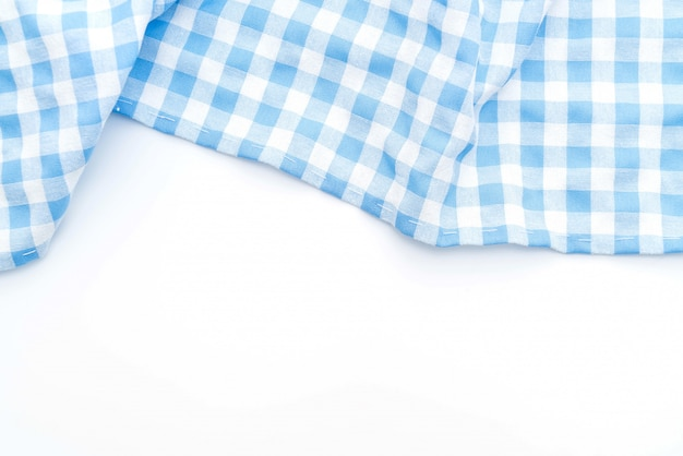 Kitchen cloth (napkin) on white background