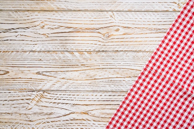 Kitchen cloth on wood table