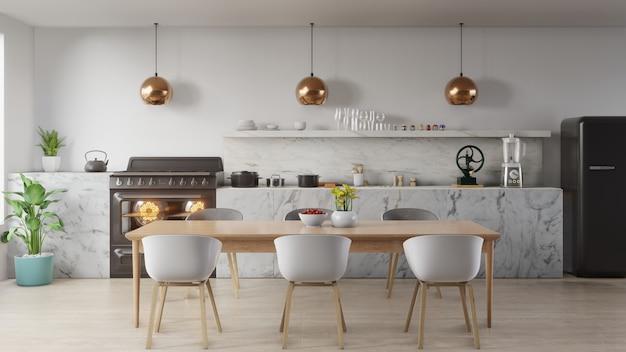 Концепция интерьера кухни.