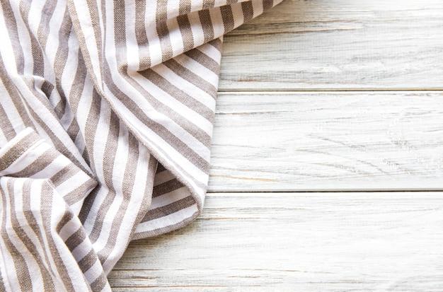 Kitchen napkin on the wooden table