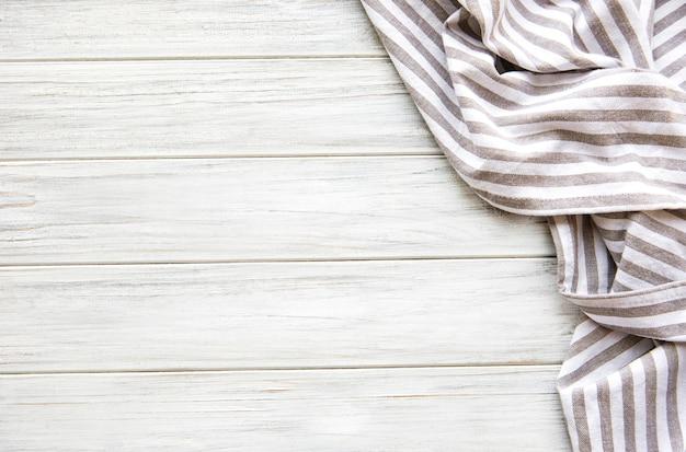 Kitchen napkin on a wooden table