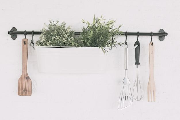 キッチンオブジェクトは、壁に設定します