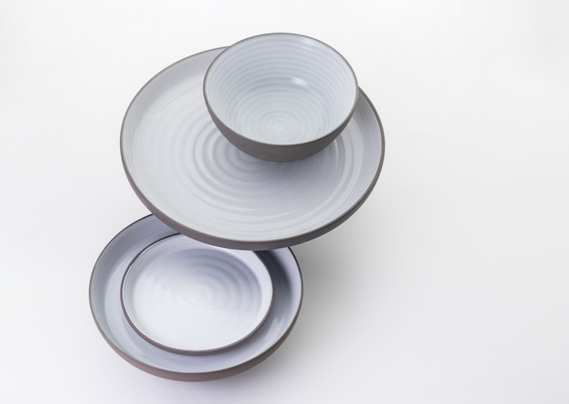 Kitchen and restaurant utensils on a white background