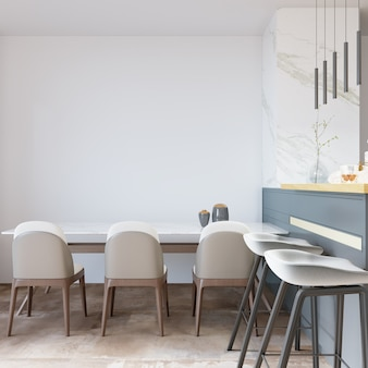 Kitchen room with chairs and table