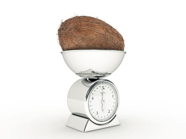 Кухонные весы с гигантским кокосом