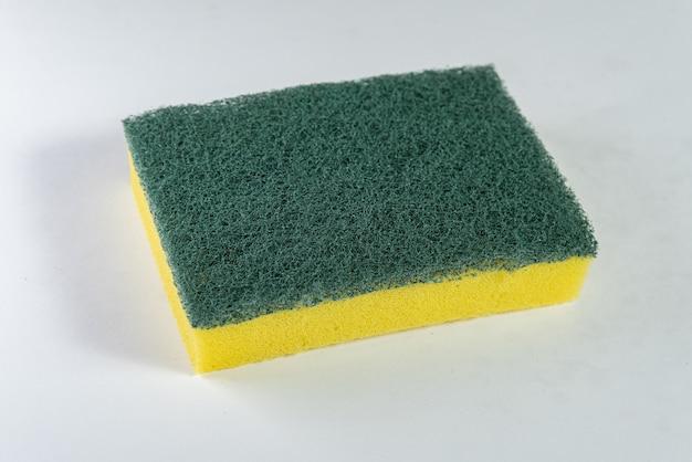 Kitchen sponge on the white background
