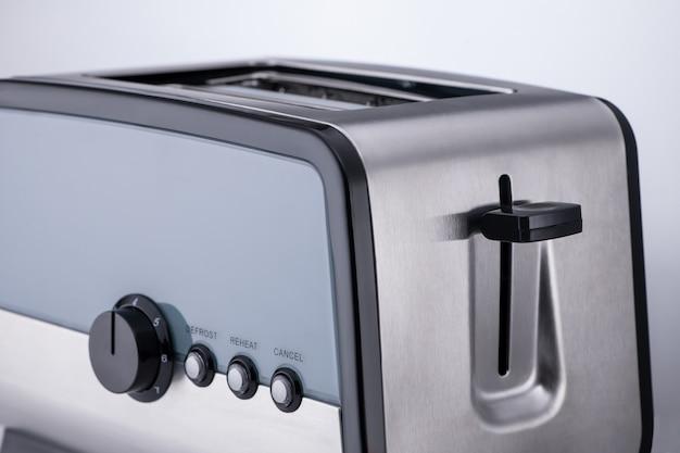 밝은 배경, 클로즈업에 주방 토스터입니다. 주방 액세서리