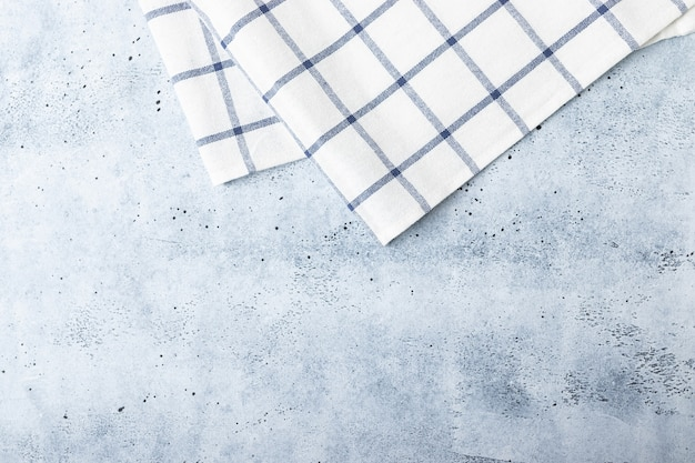 Kitchen towel on marble background. copy space