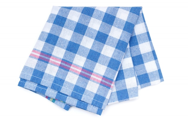 Kitchen towel with blue patchwork pattern