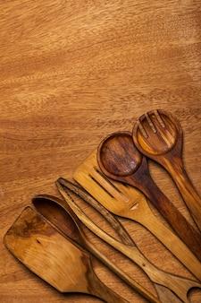 キッチン。木製の道具
