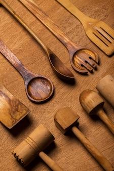 キッチン。木製の道具 無料写真