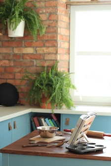 Kitchenware on the wall