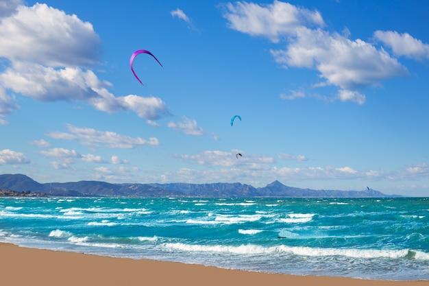 Kite surf in denia oliva gandia in valencian community