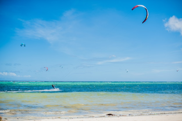 Kite surfing on boracay