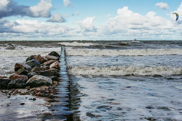 Катание на холодном балтийском море