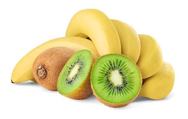 Изолированные киви и бананы
