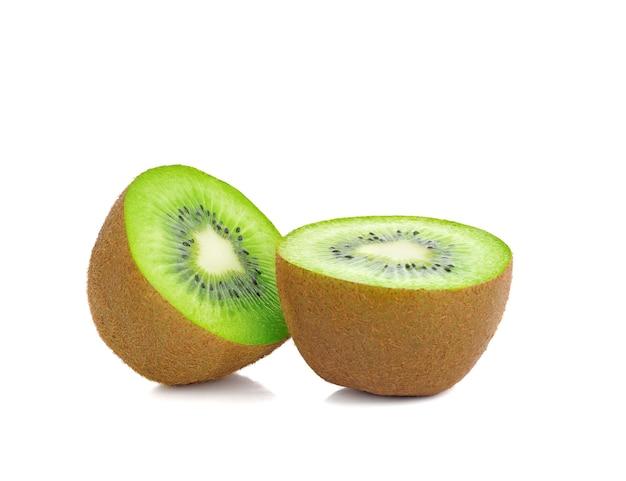Kiwi fruit sliced  isolated on white background