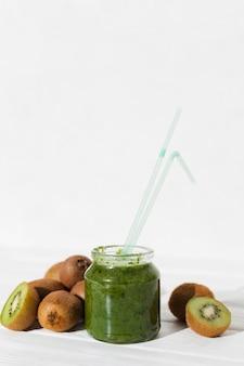 Kiwi shake in jar