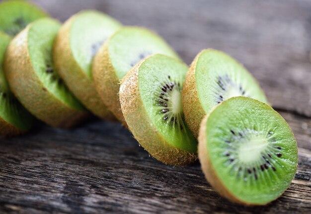 Kiwi on wood