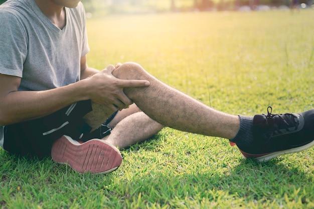 ランニング中の運動による膝の怪我