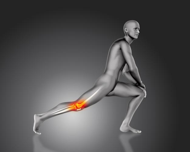 膝の痛みを持つ男性