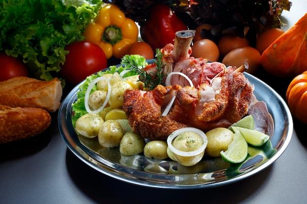 Knee-smoked pork