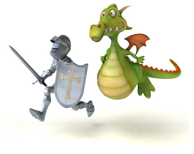 騎士とドラゴンのアニメーション