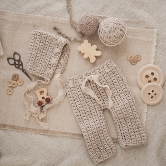 Knitted baby cloth