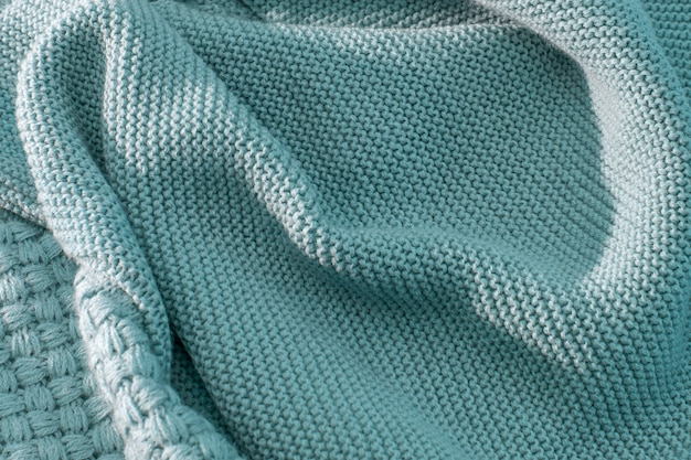 Knitted handmade woolen texture with beautiful tracery