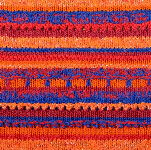 Вязаная полосатая текстура