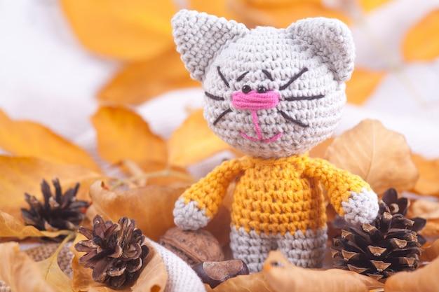 Knitted toys needlework handmade toy