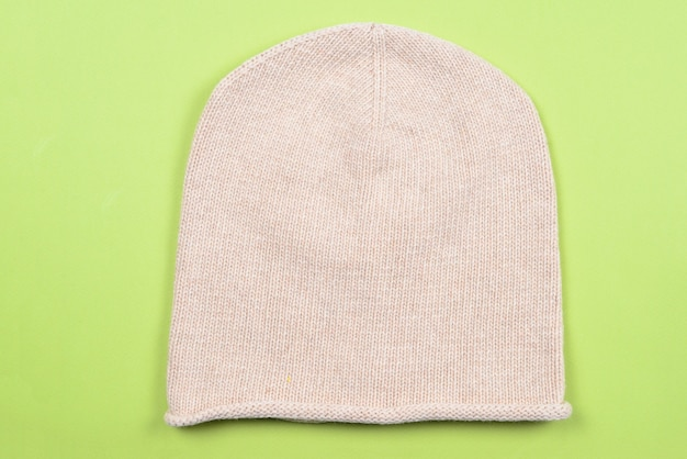 Knitted warm winter hat