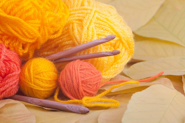 Knitting image for autumn or winter