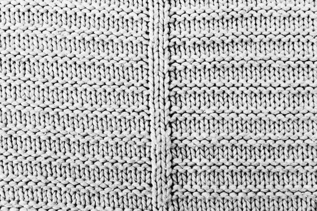 Knitting pattern in fabric