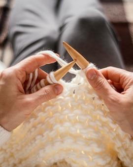 뜨개질 도구를 닫습니다.