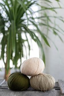Filo di lana per maglieria da vicino Foto Gratuite