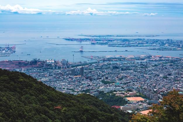 Kobe city in mount rokko