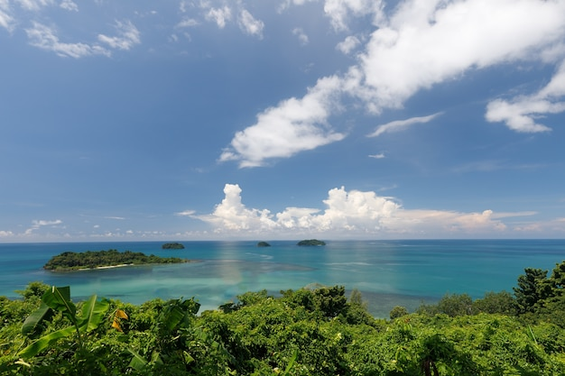 Koh chang view point with beautiful and natural scenery.