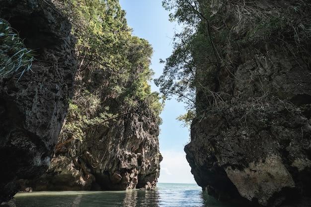 Koh hong, tham lot cave at hong island, phang-nga bay, thailand.