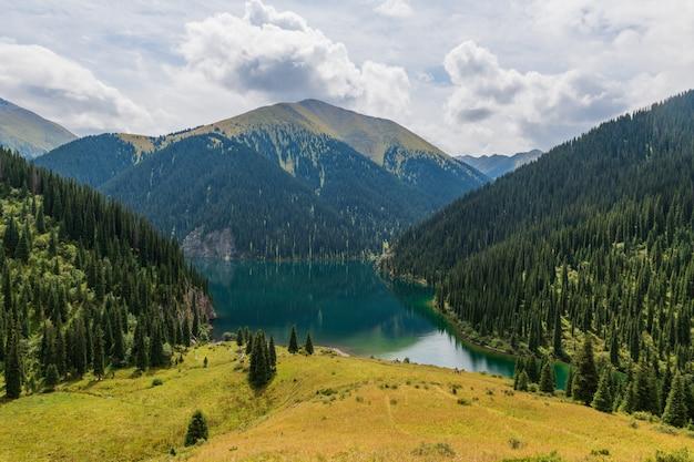 Kolsay lake - mountain lake in kazakhstan
