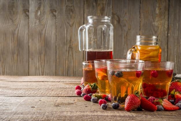Kombucha fruit and berry tea