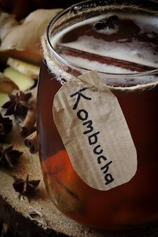 Kombucha healthy drink refreshing drink
