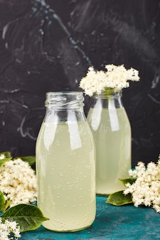 Kombucha tea with elderflower