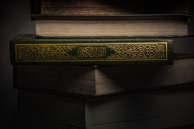 Koran - holy book of muslims ( public item of all muslims ) on the table