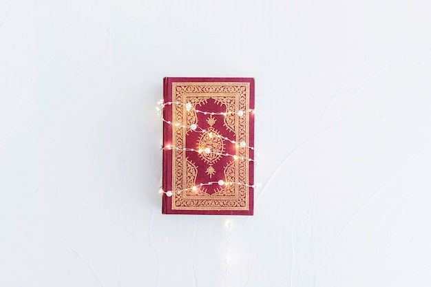 Koran with lighting garland