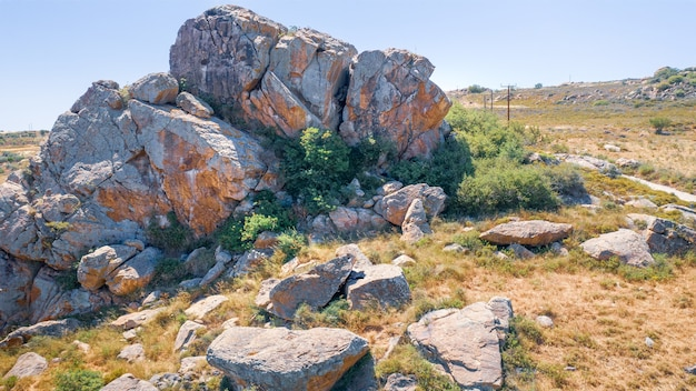 Koratgoi rock climbing site in droushia ineia area, cyprus