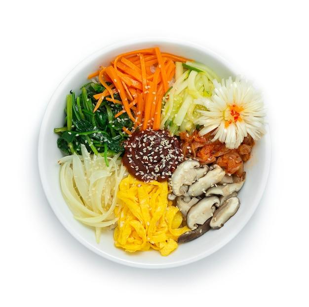 Korean bibimbap (mixed rice) with vegetables